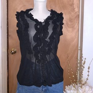 The Limited - Black Button Up Blouse